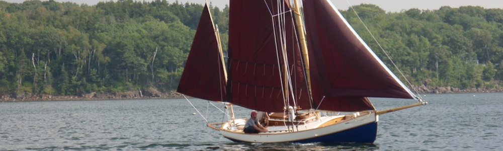 Blue Moon yawl under full sail