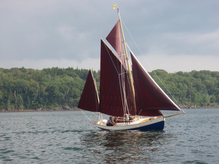 PR Boat: Small gaff rigged sailboat plans